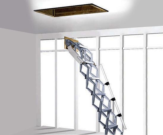 Type Bl Z Retractable Ladder Optional Retractable Door