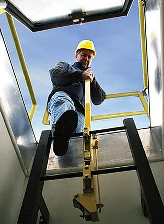 Ladderup 174 Safety Post Bilco Uk Esi Building Design