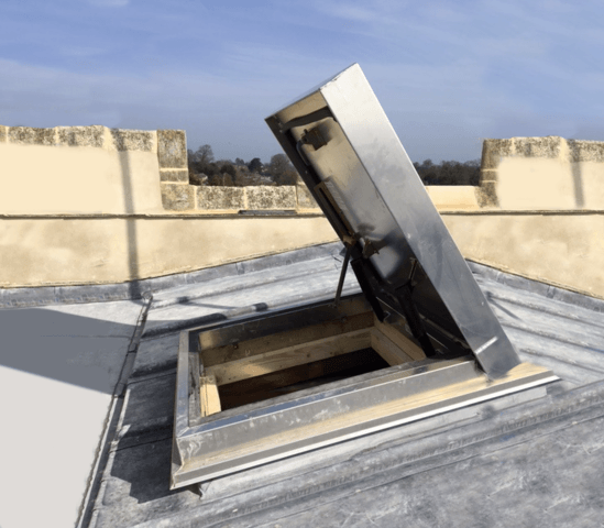 Versamount hatch provides safe roof access