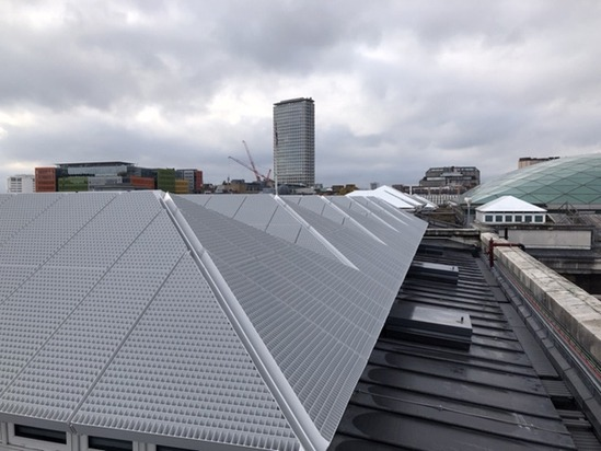 Bilco supplied 21 SS-50TB roof access hatches