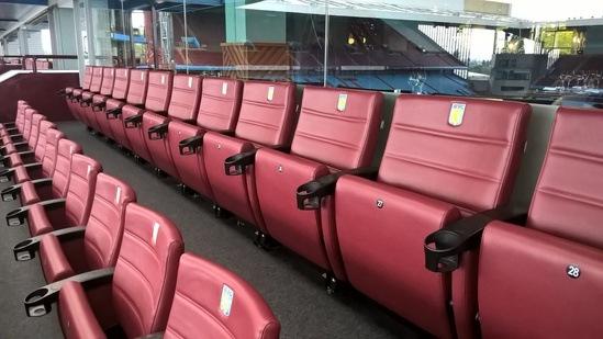 Executive seating - Villa Park Hospitality