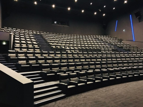 The cinemas now have luxurious tiered seating