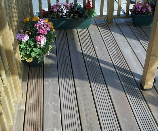 Q deck canterbury style decking boards 27x144mm for Cheap decking boards uk