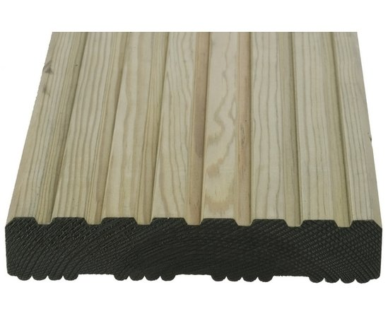 Q deck winchester style decking boards 27x144mm for Softwood decking boards