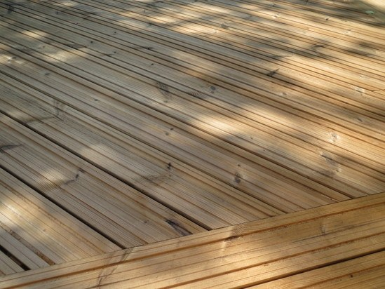 Q deck lunawood thermowood decking hoppings softwood for B and q timber decking