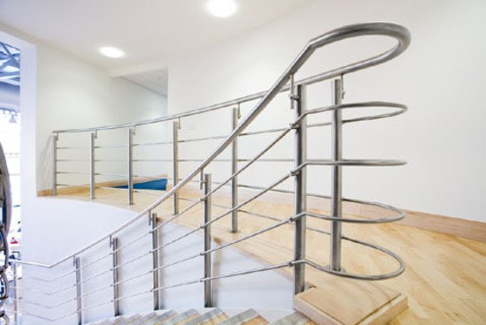 Stainless steel helical staircase