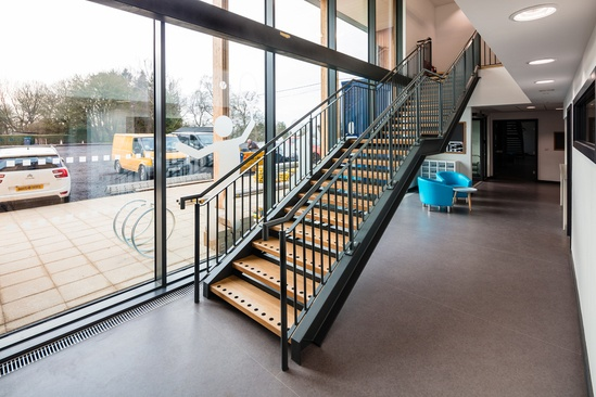 Bespoke steel internal staircase for school