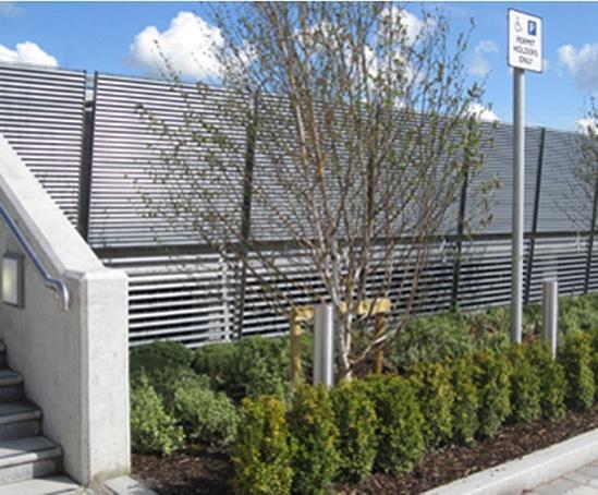 Louvred car park screening, Portlaoise urban park