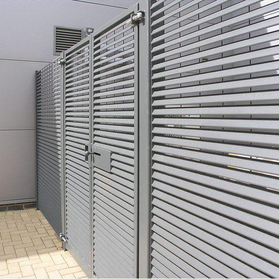 Steel Louvred Gates Lang Fulton Esi External Works