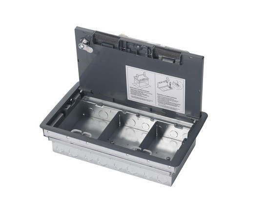 One piece fast fit access floor box cmd ltd esi for 1 compartment floor box