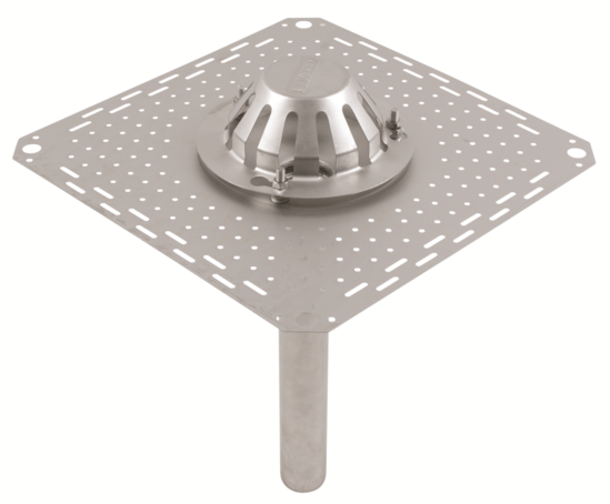 40mm siphonic roof drain outlet with clamping flange