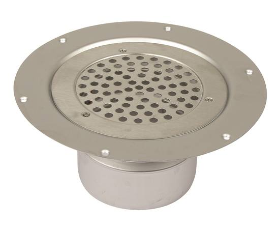 Light-duty stainless steel drain