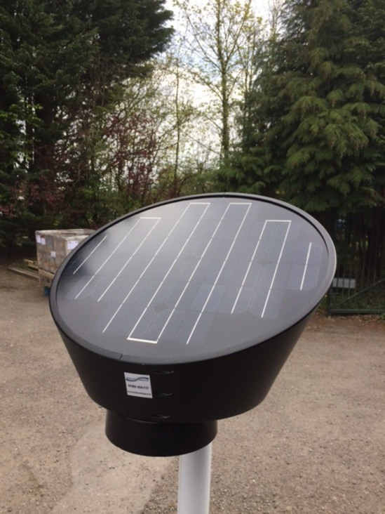 Solar Powered Sign Light Unit Street Furnishings Esi