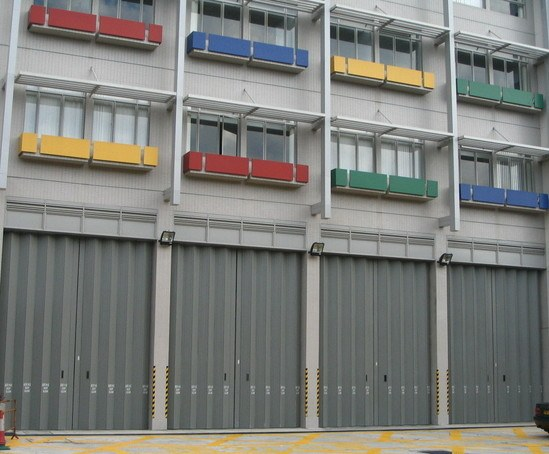 Eurofold horizontal sliding folding security shutters