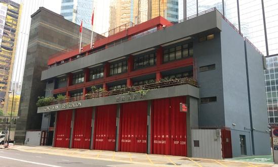 Folding shutter doors for Fire Dept