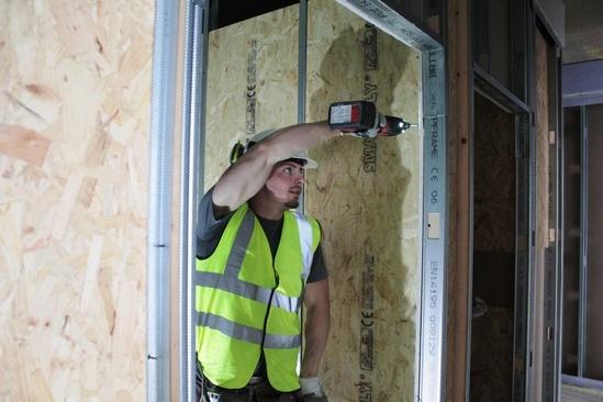 SD Plastering installing DRYBACKER