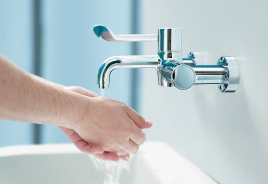 Markwik 21+ thermostatic tap mixers for hospitals