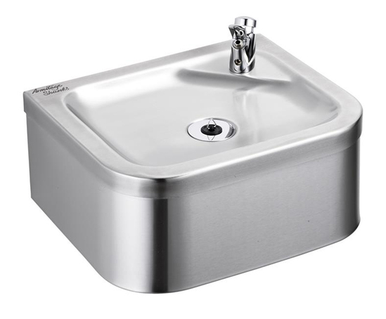 Purita stainless steel wall-mounted drinking fountain
