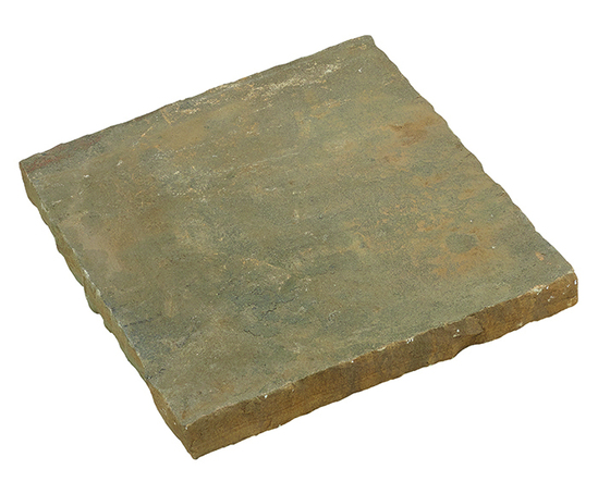 Slabby sandstone paving