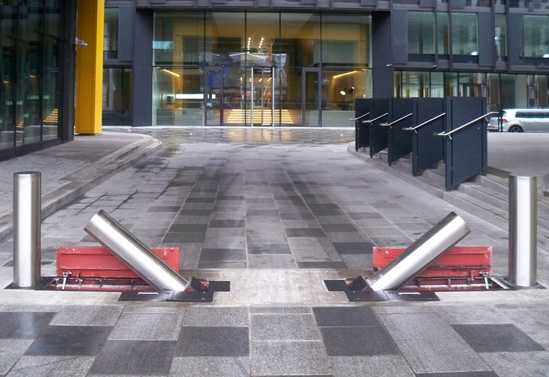 PAS 68 Terra Quantum side folding bollard