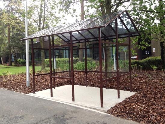 Smoking Shelters Product : Carleton ™ smoking shelter glasdon uk ltd esi