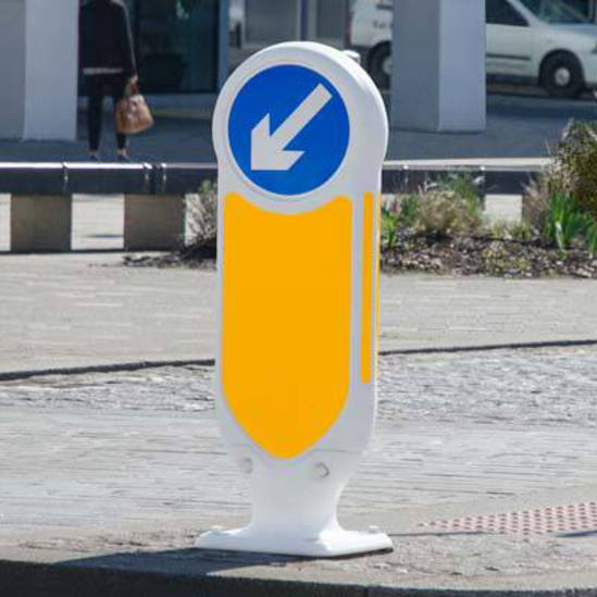 Signmaster Ultra - keep left traffic bollard