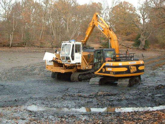 Groundworks for lake under construction