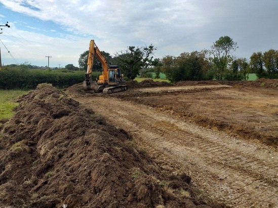 Excavations for a new reservoir