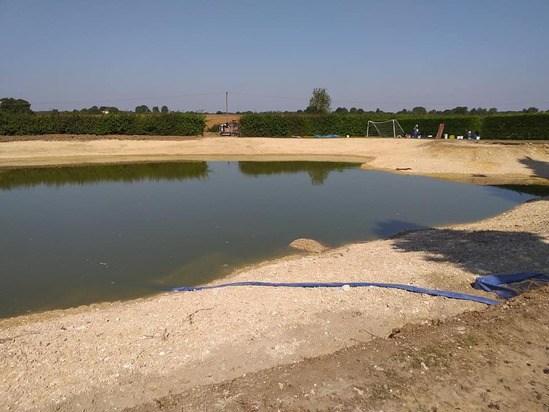 Wetland construction project