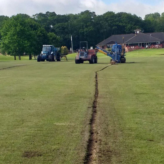 Drainage works at the Singing Hills Golf Club