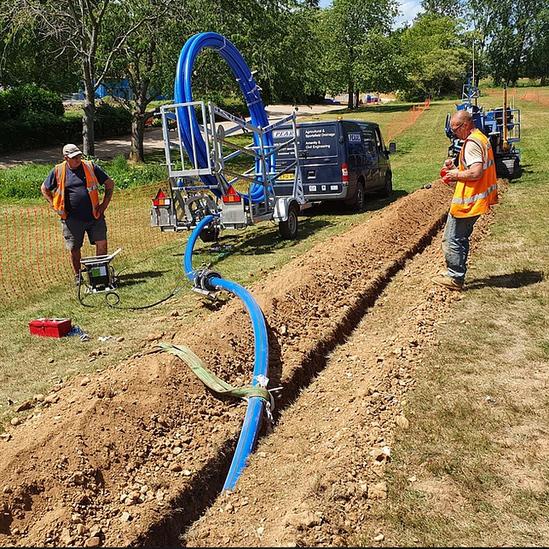 Water pipe installation - Hertfordshire
