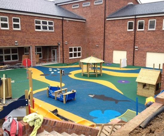 Darvel Primary School and nursery play area