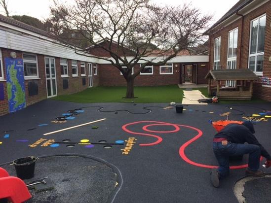 Playground Surfacing Equipment And Canopy Kent School