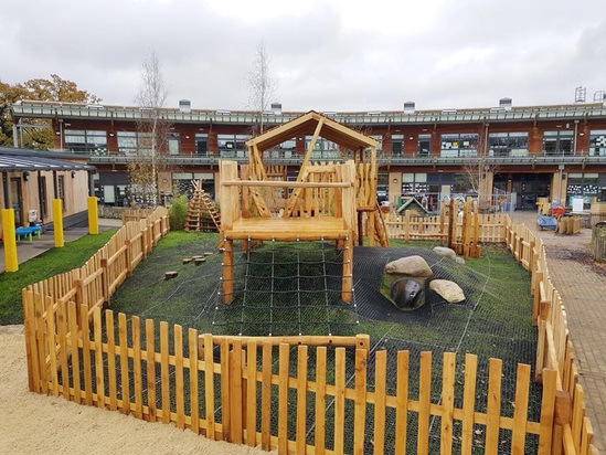 Main playground, Broadfields Primary School