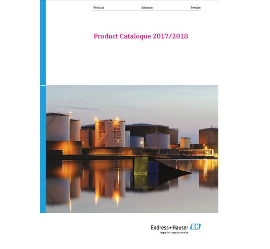 Endress+Hauser 2017/2018 product catalogue for download