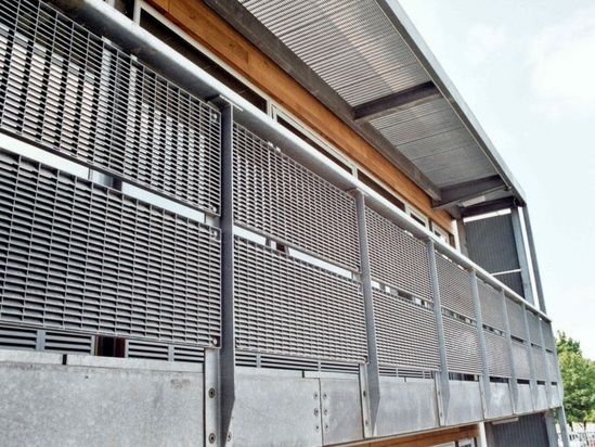 Louvre balustrade infills and brise soleil