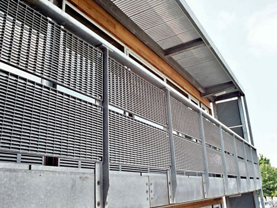 Screening/fencing, Shoeburyness High School, Essex