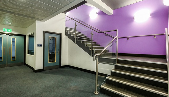 B20 stainless steel balustrade with glass infill