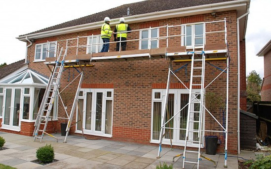 Roofline System - fully-guarded work platform