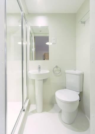 Student accommodation bathroom pod