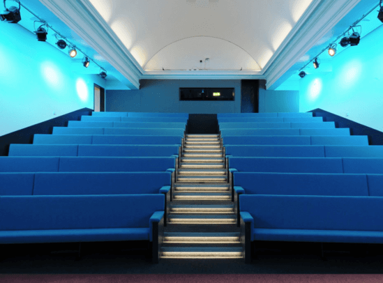 Bench seating at Hans Rausing Lecture Theatre