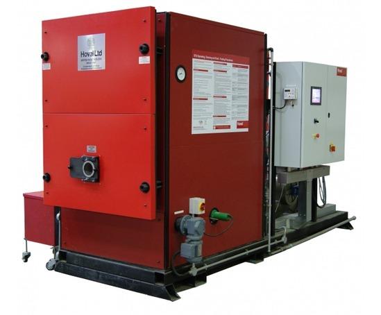 Stu modulating commercial wood pellet biomass boiler