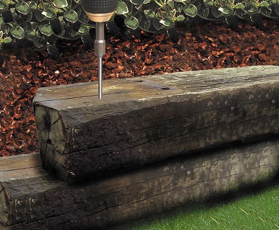 FastenMaster TimberLOK Wood Screw 4 in Heavy Duty Steel Screw External Hex 150