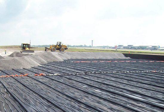 Aerated wetlands construction at Buffalo Airport
