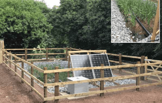 Aerated reed bed with FBA™ for small housing scheme