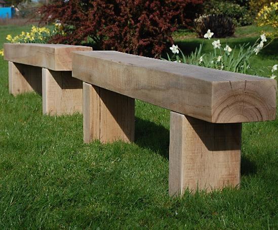 Cranham Oak Railway Sleeper Bench And Table Branson Leisure Esi External Works