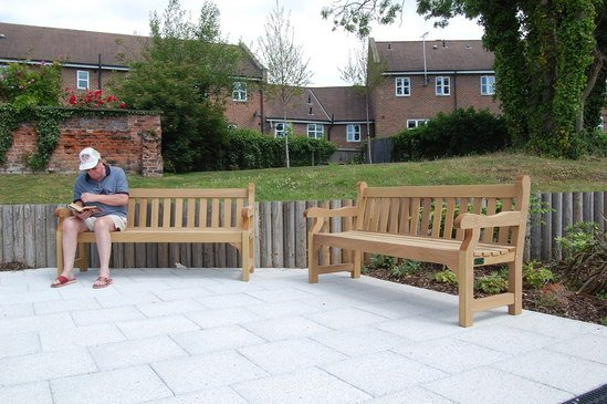Westminster 1.8m wooden seats
