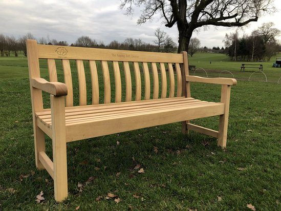 Bespoke timber seat for The Epping Golf Course