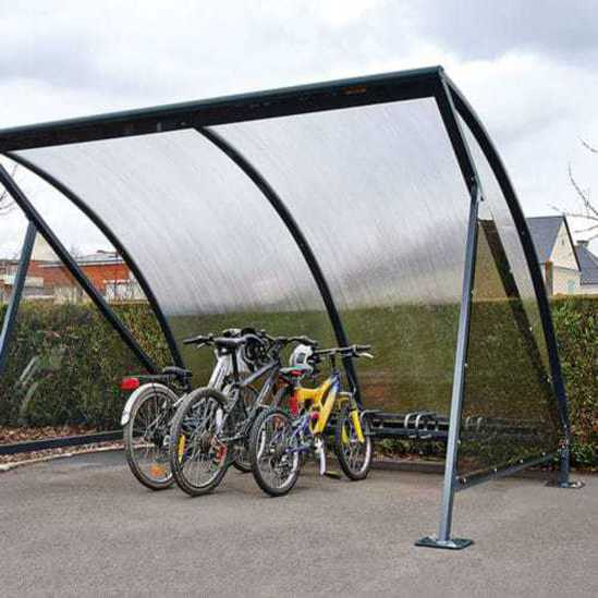 Moonshape cycle shelter