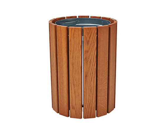 Cologne litter bin in natural timber finish